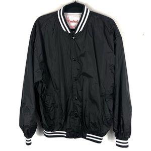 Black and white bomber referee jacket E12